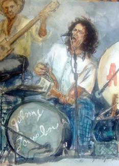 Johnny Lowebow - watercolor by Yuri Ozaki